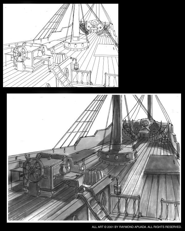 pirateshipgradationsandline